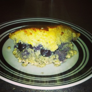 Paleo Lemon Blueberry Protein Cake