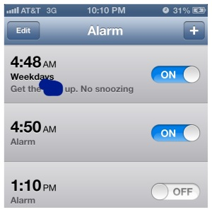 Edited out the profanity my pre-5am mind needs to get me out of bed.
